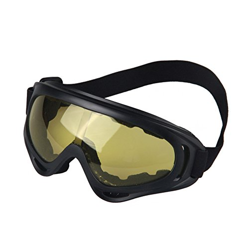Ksmxos Comfortable Clear Anti-Fog Dual Mold Safety Goggle - Bikers Goggles India For Night
