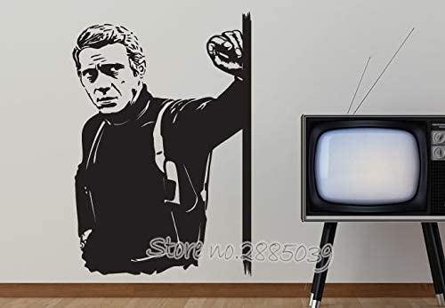 zhuziji Pegatinas de Pared de Tren de Circo Star Steve Mcqueen TV Fondo de Pared 3D Lpvc Impermeable Hogar Niños. Sala. Vinilo Decorativo Dormitorio 50x74cm: Amazon.es: Hogar