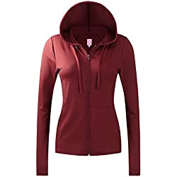Regna X NO Bother Women's Sports Slim fit Soft Fitness Full Zip up Hooded Jacket