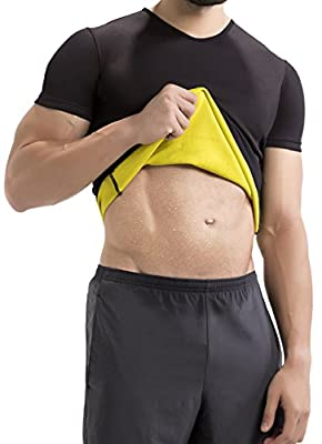 Hot Shapers Cami Hot Thermal Shirt for Men - Compression and Calorie Burn Fabric Technology Activewear