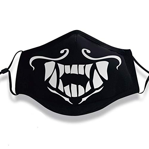 Shancon KDA Akali Cosplay Mouth-Muffle Mask Reflective Adjustable Cotton Dust-Proof Black Winter Warm Adult Unisex Halloween 2018 -