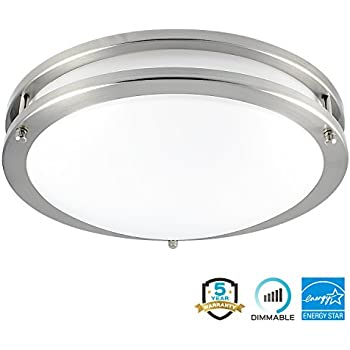 Broan 757sn Decorative Ventilation Fan And Light 80 Cfm 2 5 Sones Satin Nickel And Frosted