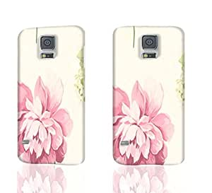 Pin Pink Peony 3D Rough Case Skin, fashion design image custom, durable hard 3D case cover, Case New Design for Samsung Galaxy S5 I9600 , By Codystore