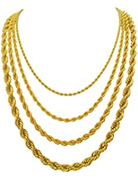 5mm Gold Rope Chain Life Time Warranty,Made in USA,Life...