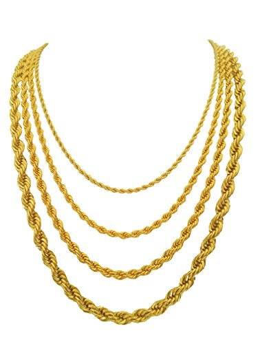 Yellow Gold 5mm Rope Chain - 9