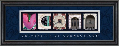 Prints Charming Letter Art Framed Print, U of Connecticut-Uconn, Bold Color - Connecticut Malls