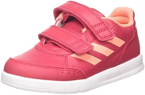 Black Adidas Alta Sport CF Kids Boys Trainers Shoes