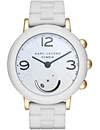 Women's Riley Aluminum and Silicone Hybrid Smartwatch, Color: Gold-Tone, White (Model: MJT1004)
