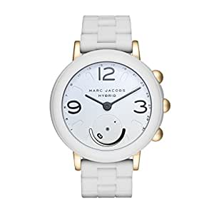 Marc Jacobs Women's 'Riley Hybrid' Quartz Stainless Steel and Rubber Smart Watch Color:White (Model: MJT1004)