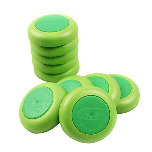 GREENS! 10 Pcs/ Set Green Discs Gun Vortex Praxis Flying Discs Toy Bullet for NERF Outdoor Game Frisbee