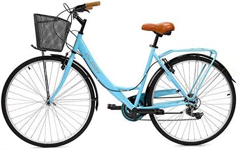 CLOOT Bicicleta de Paseo Relax 700 Shimano 6V Azul: Amazon.es ...