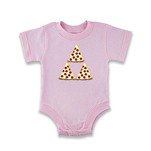 Pop Threads Pizza Triforce Pink 18M Infant Bodysuit by