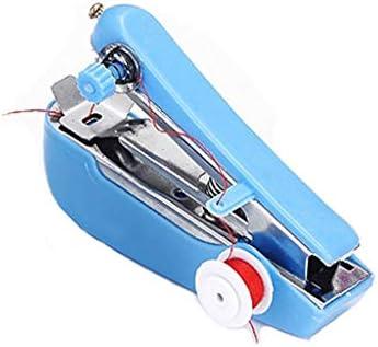 Love lamp Máquinas de Coser Pequeña máquina de Coser Manual Pequeña máquina de Coser portátil Máquina de Coser portátil Mini portátil de Mano Muebles del Cuarto de Costura (Color : Blue): Amazon.es: