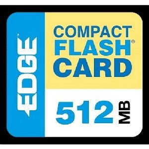 EDGE Digital Media Premium - Flash memory card - 512 MB - CompactFlash - Edge Premium Compactflash Card