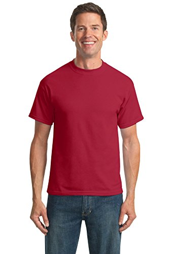 Port & Company Men's 50/50 Cotton/Poly T Shirt L Red