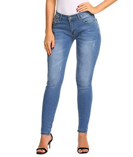 ZHENWEI Womens Skinny Jeans Stretchy Slim Fit Butt Lift Denim Pants