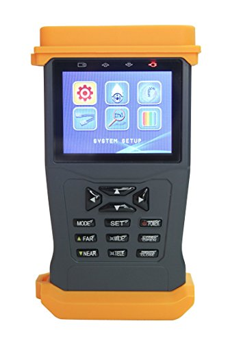 Camera CCTV Security Monitor Tester, Cable Wire Video Audio Pro Ptz 3.0MP Test HD-TVI CVI AHD Analog System with LCD Rechargeable Battery, Surveillance 11+12V Power Generator Equipment Tool