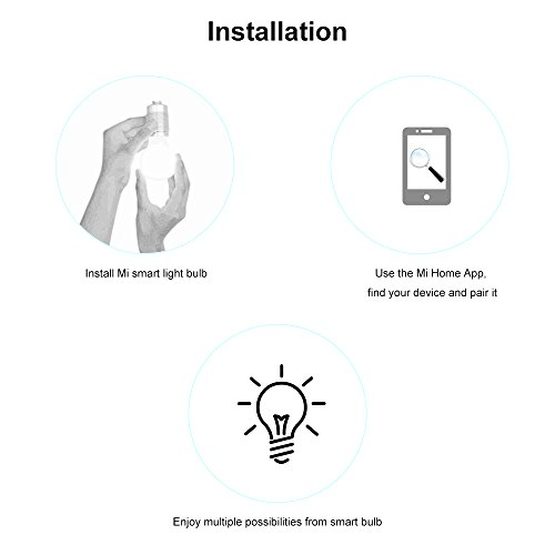 Smart Light Bulb White and Color, Yeelight WIFI LED Bulb, Remote Control, Dimmable RGB Color Changing, 60W Equivalent, E26 110V, Compatible with Amazon Alexa (US Version with Warranty)