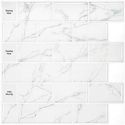 Amazon Com 5 Sheet Peel And Stick Backsplash Subway Tile Wall Back Splashes For Kitchen Bathroom Shower House Backsplashes Kitchen Dining