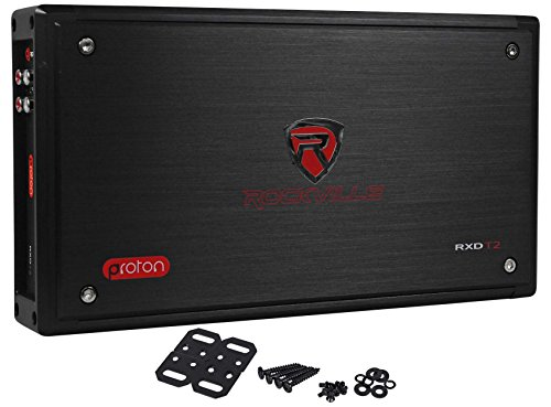 Rockville RXD-T2 Micro Car Audio Class D Amplifier 2400w 2 Chan 2x600W CEA Rated