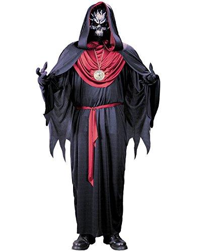 Emperor Of Evil Adult Costumes (FunWorld Emperor Of Evil Complete, Black/Burgundy, One Size Costume)