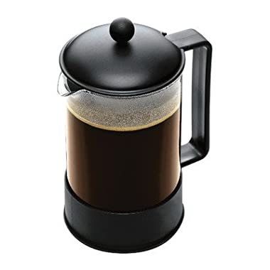 Bodum Brazil 1-1/2-Liter French Press Coffee Maker, 12-Cup, Black