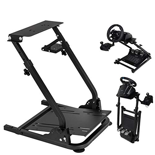 Mophorn G920 Racing Steering Wheel Stand Foldable Game Simulator Frame for Thrustmaster Logitech G25 G27 G29 G920 Without Wheel Pedal Shifter Adjustable Video Gaming Racing Simulator Stand (g920)
