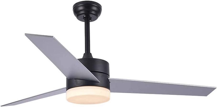 Ventilador de techo LED con kit de luces, luz de techo LED Retro ...