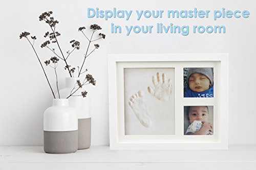 Baby Handprint Picture Frame Clay Kit for Newborn Girls and Boys by ...
