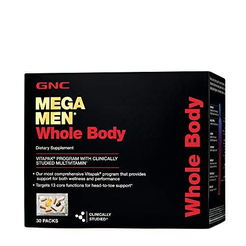 GNC Mega Men Whole Body Vitapak Program, 30 Packets