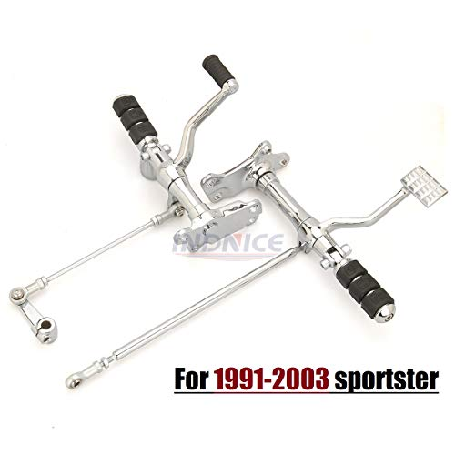 Chrome 1991-2003 sportster Forward Controls motorcycle shift linkage rod harley footrest sportster 883 foot pegs harley sportster forward control