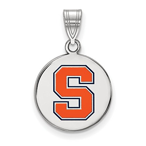 Syracuse University Orange Medium Disc Pendant in Sterling Silver 2.30 gr by Jewelry Stores Network
