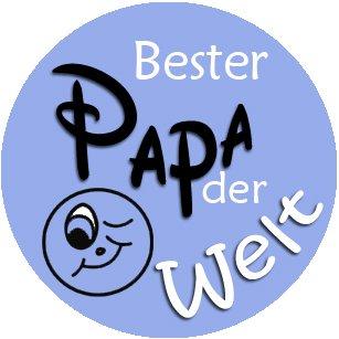 mit Einkaufswagenchip in Magnethalterung Schl/üsselanh/änger Bester Papa der Welt gr/ün