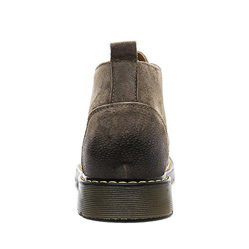 COOLCEPT Herren Mode Derby Oxford Stiefel Hidden Heel Western Schuhe Coffee