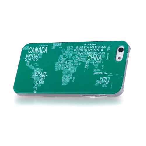 GGMM World Kristallhülle Schutzmaßnahmen Hartplastik Fall mit Displayschutzfolie Film für Apple iPhone 5/5S mehrfarbig