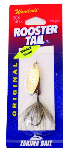 Wordens Single Hook Rooster Tail Lure, 1/8-Ounce, Pumpkin Seed