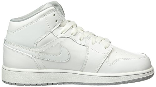 1 On Multicolore Gar Chaussures Nike Grey Sport Air Mid blanco De white wolf White Gris Bg Jordan EnAUzq