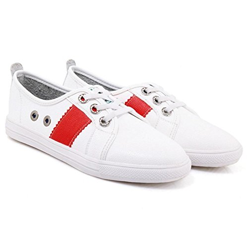 Coolcept Femmes Plates Espadrilles Escarpins Chaussures Red nMkBa91yU
