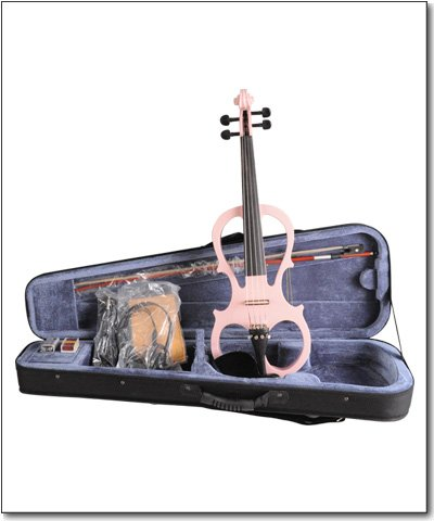 Aileen 4/4 PINK Electric Violin VE008B + FOAMED CASE + BOW + HEADPHONE + ROSIN by Aileen