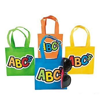 Amazon.com: 4 ~ ABC Mini Totes/Tote Bolsas ~ Aprox. 6