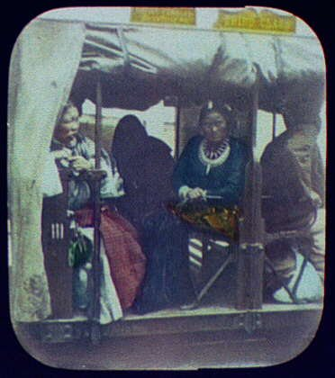 HistoricalFindings Photo: Indian Women,Railway Coach,Third Class,Railroad,1895,William Henry ()