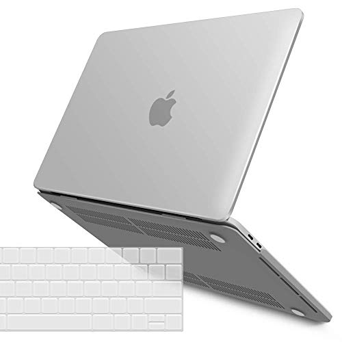 IBENZER MacBook Pro 13 Inch Case 2020 2019 2018 2017 2016 A2159 A1989 A1706 A1708, Hard Shell Case with Keyboard Cover for Apple Mac Pro 13 Touch Bar, Frost Clear,T13CL+1A