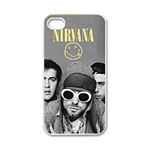 Nirvana iPhone 4 4s White Cell Phone Case GSZWLW0332 Cell Phone Case For Girls