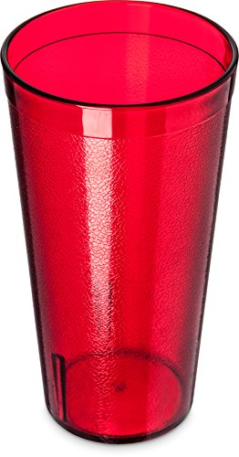 Gloss High Carlisle - Carlisle 5220-8110 BPA Free Plastic Stackable Tumbler, 20 oz., Ruby (Pack of 6)