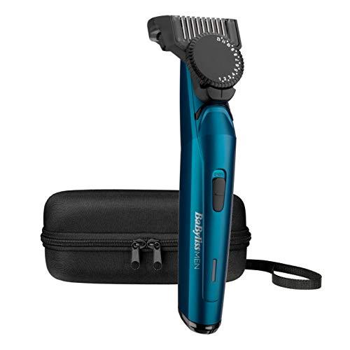 BaBylissMEN Barbero profesional T890E Recortadora de barba con Cuchillas de Acero Japonés extra afiladas, Uso Con/Sin cable, Batería de Litio, 120 min autonomía, 24 longitudes de 0,5 a 12mm, Estuche