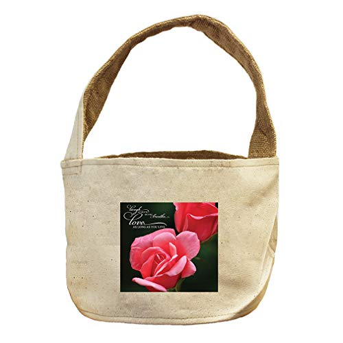 Giggle to The That You Inhale Cherish As Long Canvas and Burlap Storage Basket