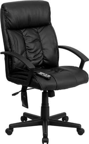 amazon com flash furniture high back massaging black leather