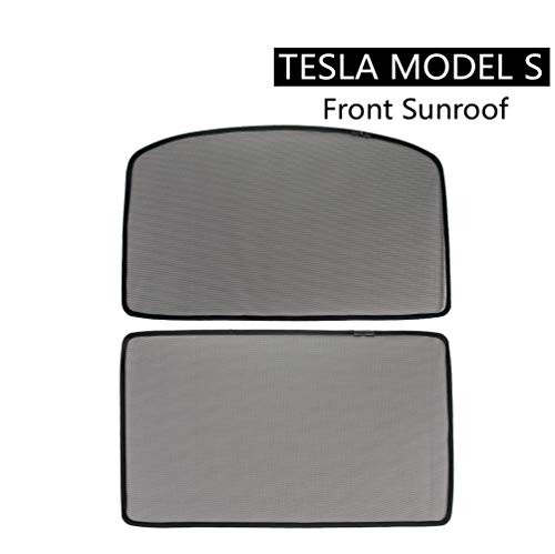 ROCCS Tesla Model S Front Sunroof Sunshade, Windshield Glass Roof Car Skylight Blind Shading Net for model s 2012 2013 2014 2015
