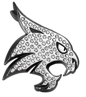 Amazoncom Texas State Bobcats Crystal Solid Metal Emblem Amg