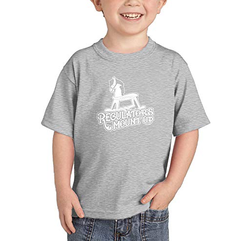 HAASE UNLIMITED Regulators Mount Up - Rocking Horse Infant/Toddler Cotton Jersey T-Shirt (Light Gray, 2T)